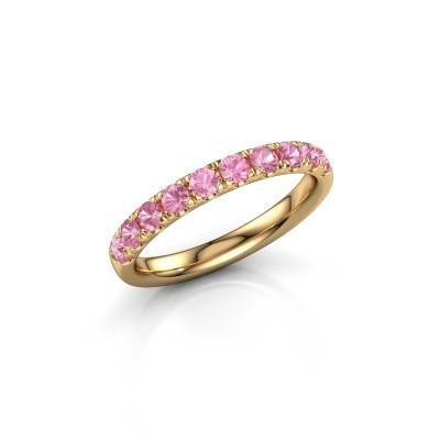 Vorsteckring Jackie Half 375 Gold Pink Saphir 2.4 mm
