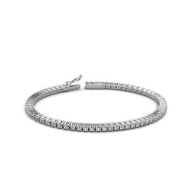 Bild von Tennis Armband Karin 2.4 mm 585 Weißgold Diamant 3.41 crt