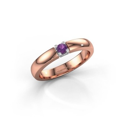 Picture of Engagement ring Rianne 1 585 rose gold amethyst 3 mm