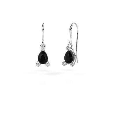 Foto van Oorhangers Bunny 1 375 witgoud zwarte diamant 1.605 crt