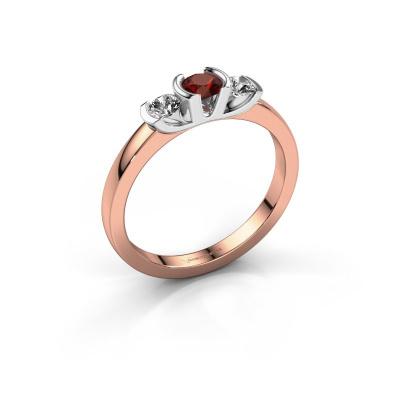 Ring Lucia 585 rose gold garnet 3.7 mm