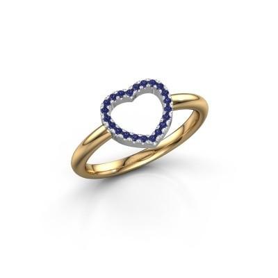 Foto van Ring Heart 7 585 goud saffier 1 mm