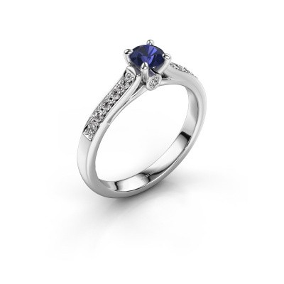 Picture of Engagement ring Valorie 2 585 white gold sapphire 4.7 mm