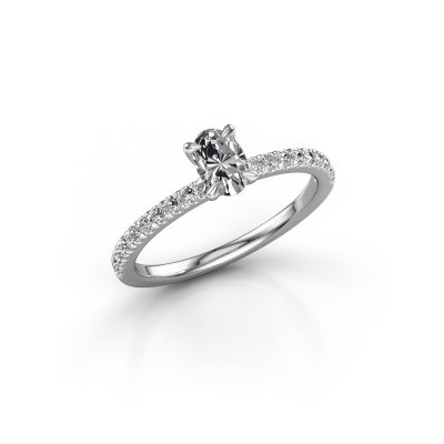 Picture of Engagement ring Crystal OVL 2 585 white gold diamond 0.680 crt
