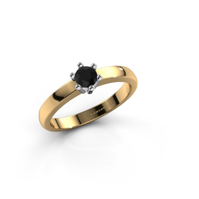 Engagement ring Luna 1 585 gold black diamond 0.24 crt