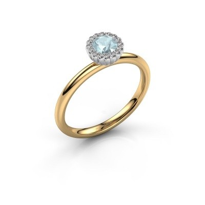 Engagement ring Queen 585 gold aquamarine 4.2 mm