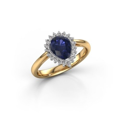 Engagement ring Tilly per 1 585 gold sapphire 8x6 mm
