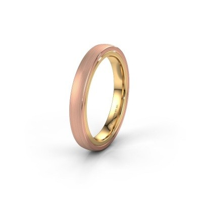 Wedding ring WH2216L26DM 585 rose gold ±4x2.2 mm
