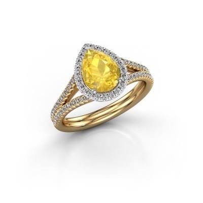 Bild von Verlobungsring Elenore 2 585 Gold Gelb Saphir 8x6 mm