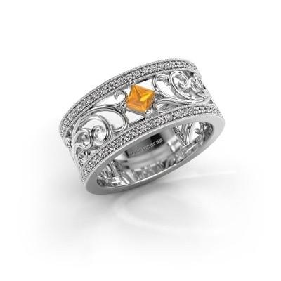 Ring Danae 925 Silber Citrin 3 mm
