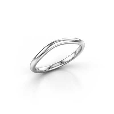 Stackable ring SR30A6 950 platinum