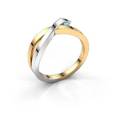 Ring Alyssa 585 gold blue topaz 2 mm