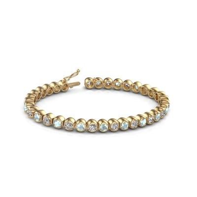 Tennis bracelet Bianca 375 gold aquamarine 4 mm