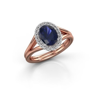 Picture of Engagement ring Rachele 1 585 rose gold sapphire 8x6 mm