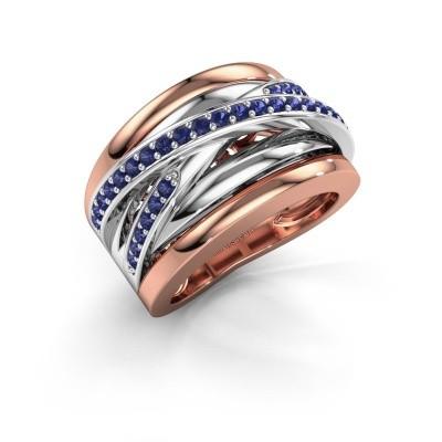 Foto van Ring Clair 3 585 rosé goud saffier 1.5 mm