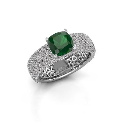 Engagement ring Darcy 950 platinum emerald 7 mm