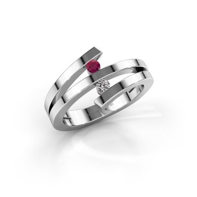 Picture of Ring Synthia 925 silver rhodolite 2.5 mm