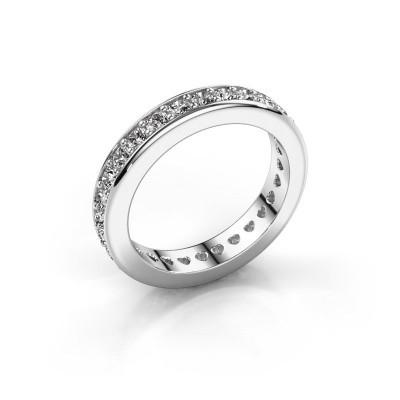 Foto van Aanschuifring Nienke 950 platina diamant 1.26 crt
