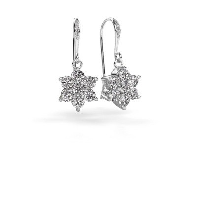 Picture of Drop earrings Dahlia 2 585 white gold diamond 1.46 crt