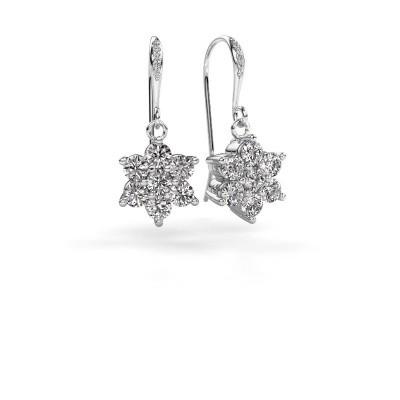 Foto van Oorhangers Dahlia 2 585 witgoud diamant 1.46 crt