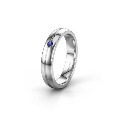 Wedding ring WH0424L24A 925 silver sapphire ±0.16x0.07 in