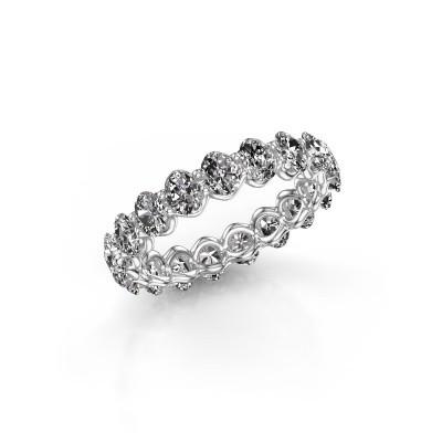 Foto van Ring Kirsten OVL 4x3 585 witgoud diamant 2.85 crt
