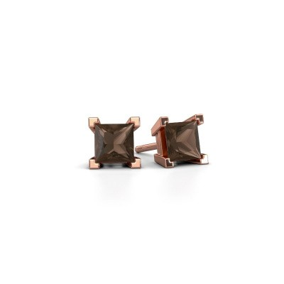 Picture of Stud earrings Ariane 375 rose gold smokey quartz 5 mm