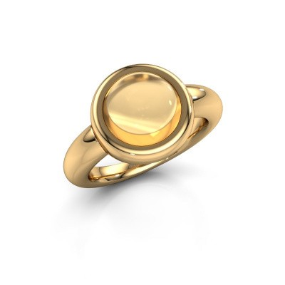 Ring Jenae 585 goud citrien 10 mm