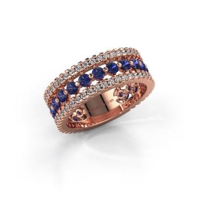 Engagement ring Elizbeth 2 375 rose gold sapphire 2.4 mm