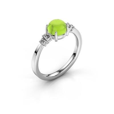 Ring Regine 925 zilver peridoot 6 mm