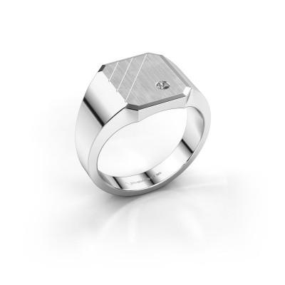 Foto van Zegelring Patrick 2 925 zilver diamant 0.03 crt