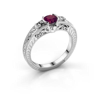 Foto van Promise ring Tasia 950 platina rhodoliet 5 mm