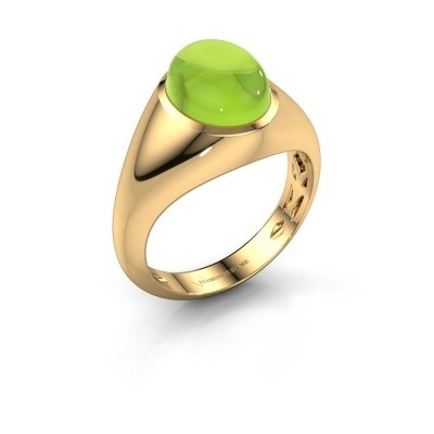 Ring Zaza 375 goud peridoot 10x8 mm