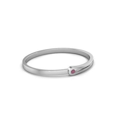 Bracelet jonc Kiki 950 platine rhodolite 4 mm