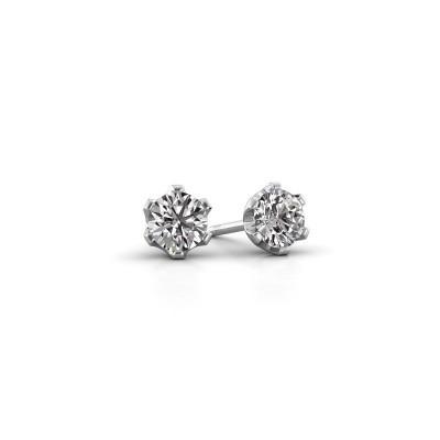 Foto van Oorstekers Fran 950 platina lab-grown diamant 0.40 crt