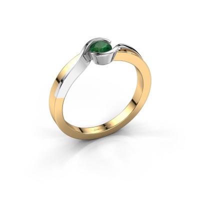 Ring Lola 585 Gold Smaragd 4 mm