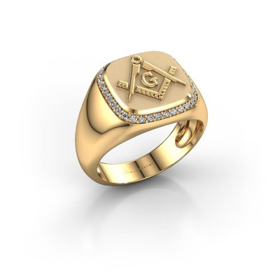 Photo de Bague pour homme Johan 585 or jaune diamant 0.255 crt