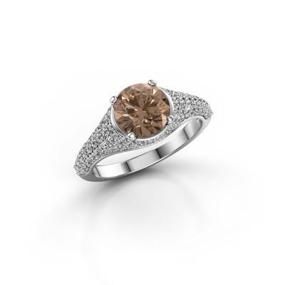 Foto van Ring Lovella 585 witgoud bruine diamant 1.929 crt