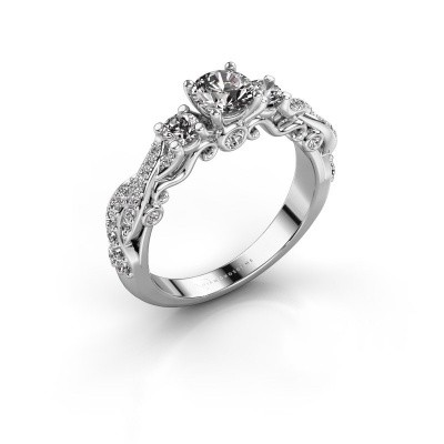 Picture of Engagement ring Kourtney 585 white gold diamond 1.056 crt