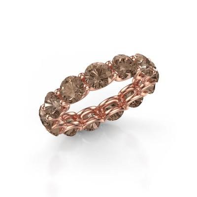 Foto van Ring Kirsten 5.0 375 rosé goud bruine diamant 6.50 crt