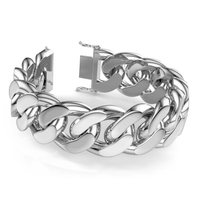 Picture of Cuban bracelet ±25 mm 585 white gold
