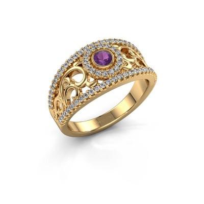 Foto van Ring Lavona 585 goud amethist 3.4 mm