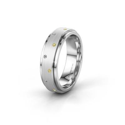 Ehering WH2134L 950 Platin Gelb Saphir ±6x2.2 mm