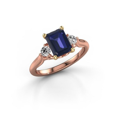 Picture of Engagement ring Laurian EME 585 rose gold sapphire 8x6 mm