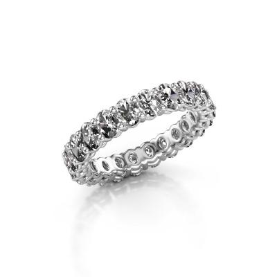 Aanschuifring Heddy OVL 3x4 585 witgoud diamant 3.30 crt
