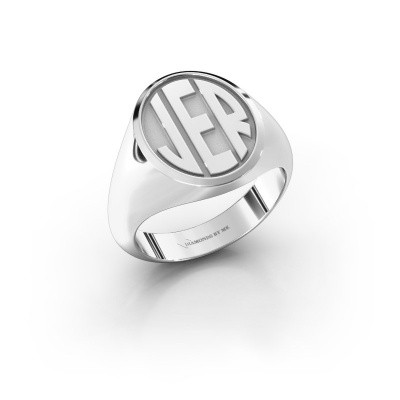 Foto van Monogram ring Paul 950 platina