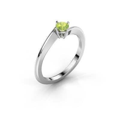 Bild von Verlobungsring Ingrid 585 Weißgold Peridot 4 mm