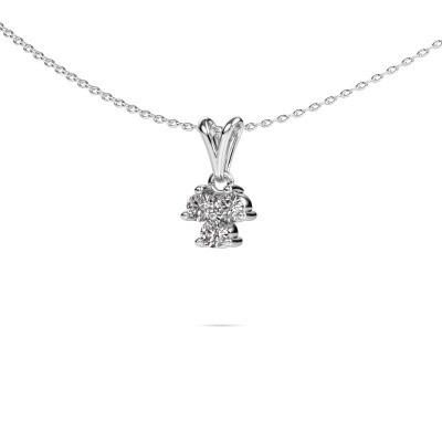 Foto van Ketting Shirlee 585 witgoud lab-grown diamant 0.30 crt