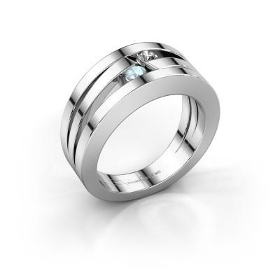 Ring Valerie 925 zilver aquamarijn 2.7 mm