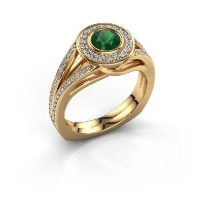 Foto van Ring Kellee 375 goud smaragd 5 mm